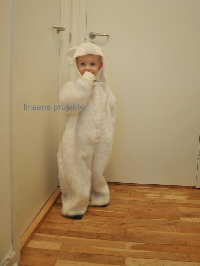 hjemmesyet fastelavn kostume isbjørn