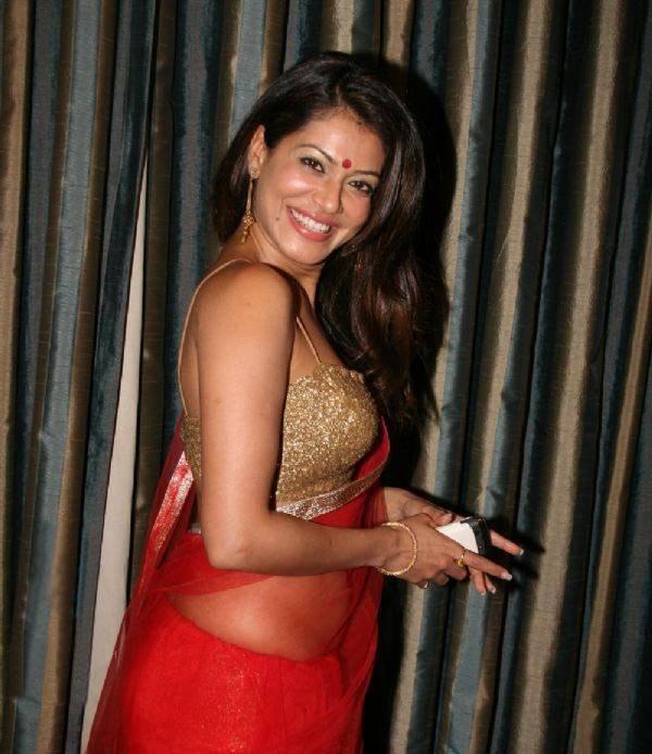 Bollywood Actress Payal Rohatgi in Red Saree Photos   Actress Saree ...