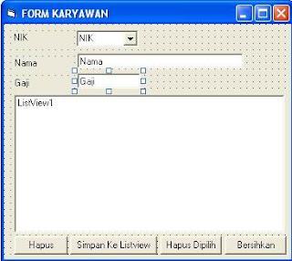 Menggunakan Listview Pada Visual Basic 6
