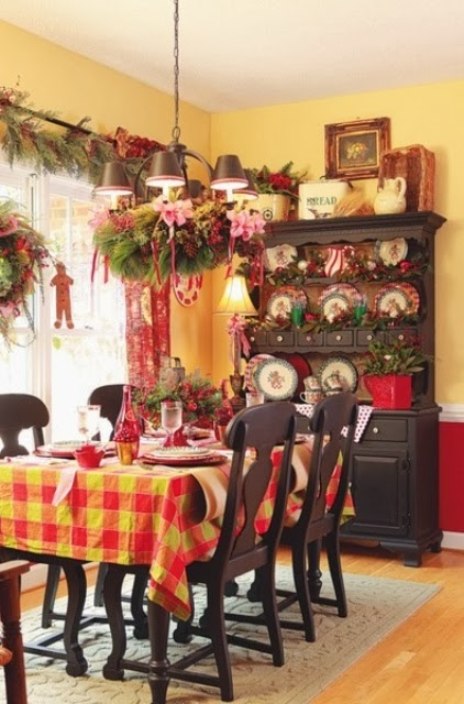 Shabby in love christmas kitchen decor ideas for Christmas decorating ideas for your kitchen