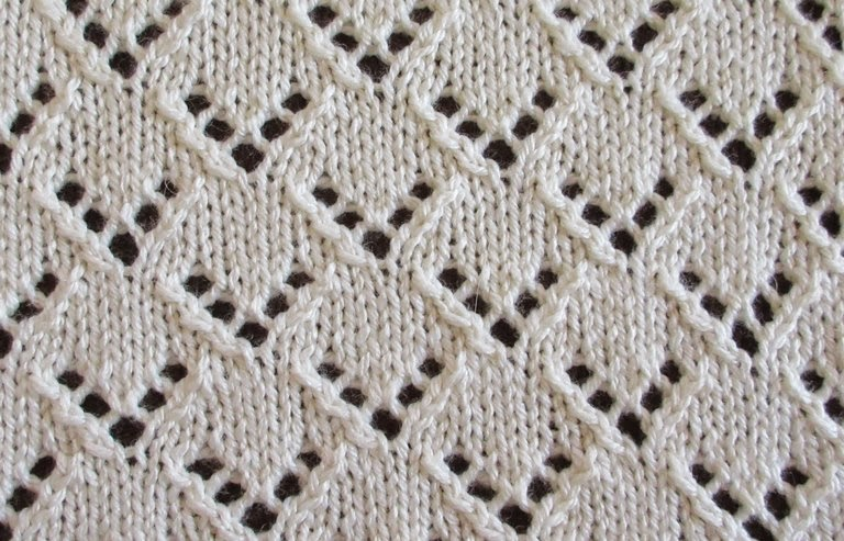 Textured Knits Van Dyke Staggered Eyelets