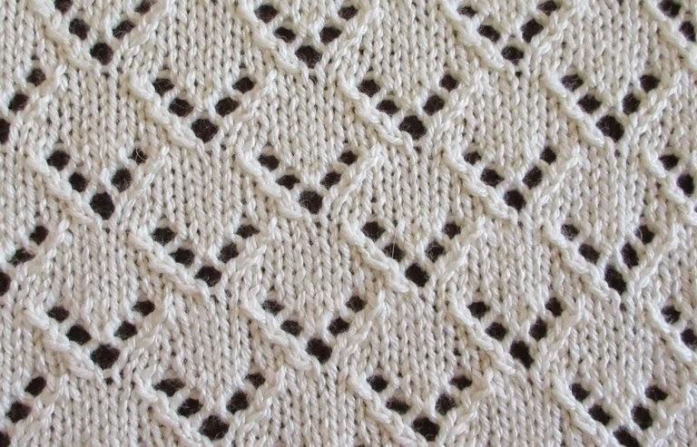 Vandyke Lace Knitting Pattern : Textured Knits: VAN DYKE STAGGERED EYELETS