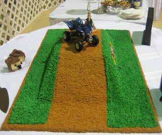 4-Wheeler Themed Groom's Cake - Side View