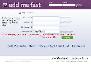 addmefast registeration