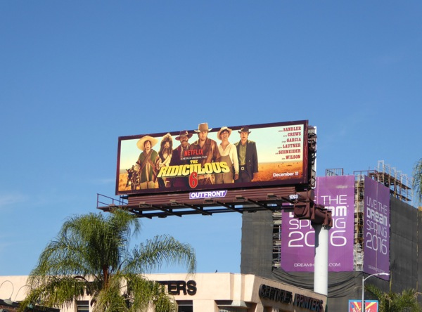 Ridiculous 6 netflix movie billboard