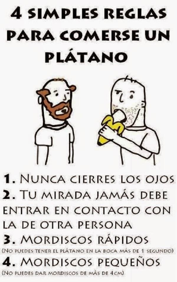 Reglas para comerse un plátano