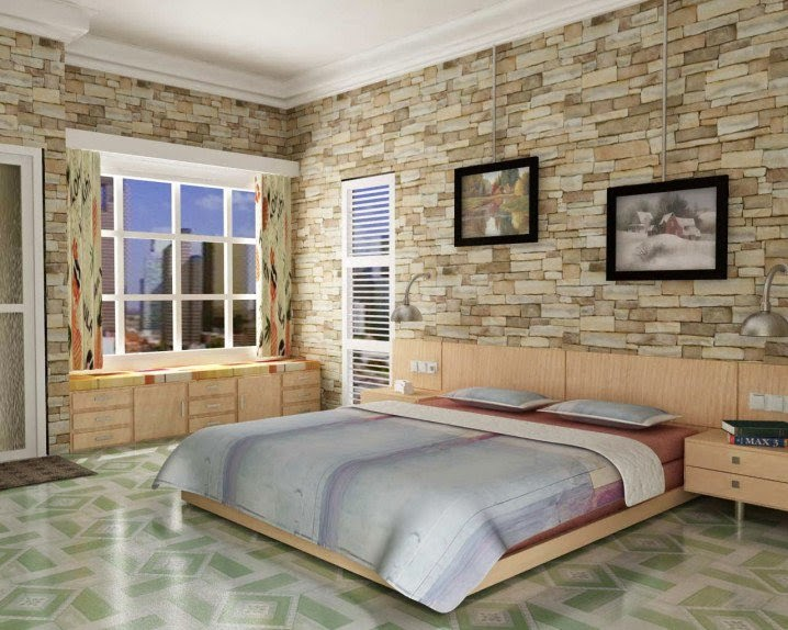 : ديكورات حوائط حجرية : حوائط