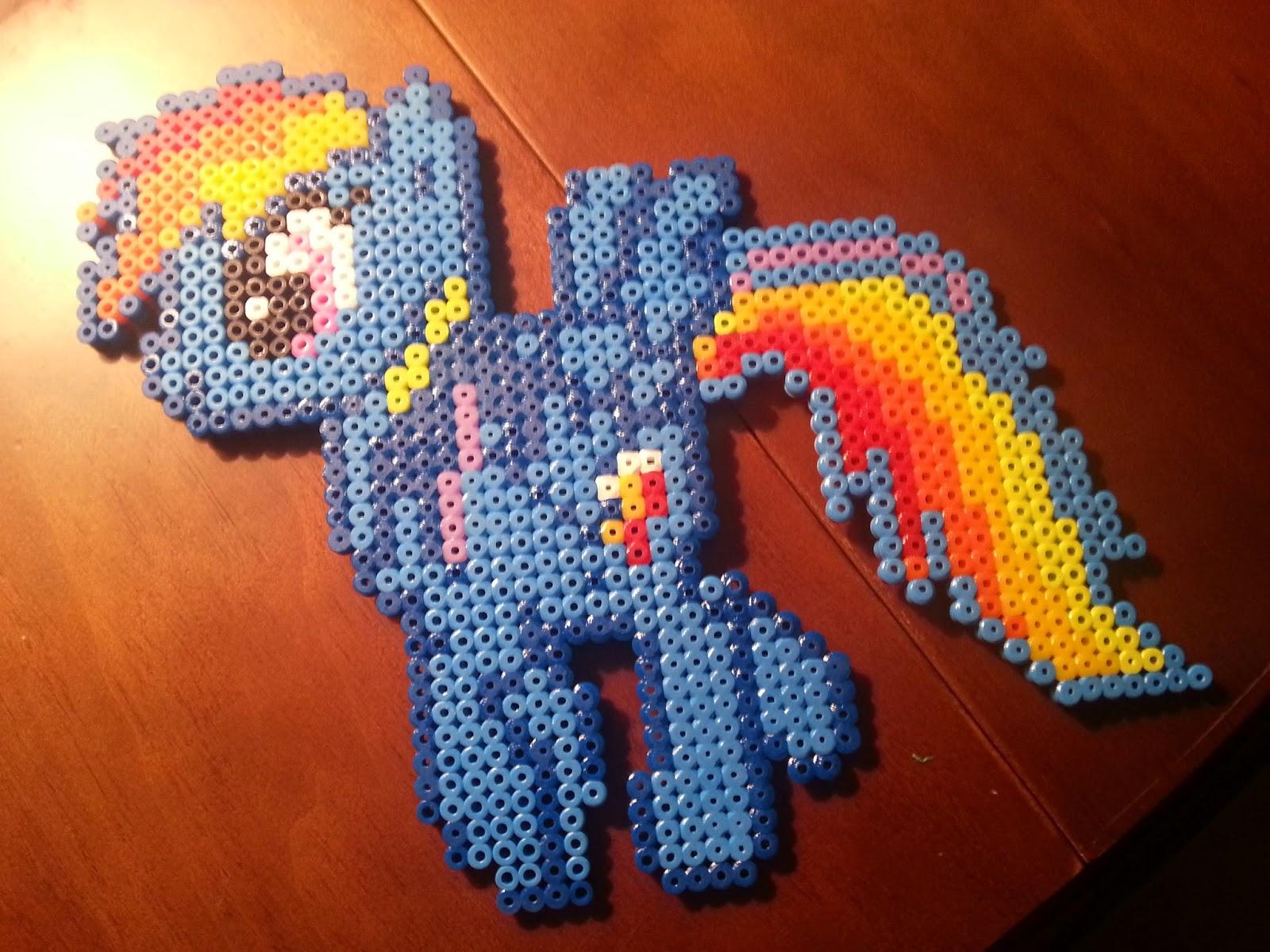 El rinconcito de Marixu: cuadro my little pony hama beads con marco ...