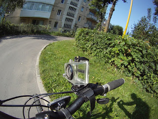 GoPro HD on Handlebar Gear Shifter