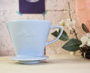 mélitta porcelaine bleu pastel numéro 102 vintage