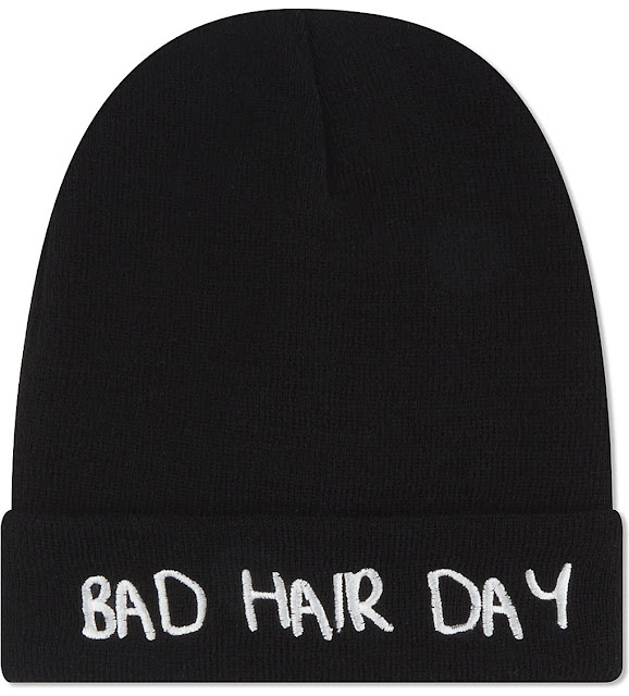 bad hair day beanie, local heroes black beanie,