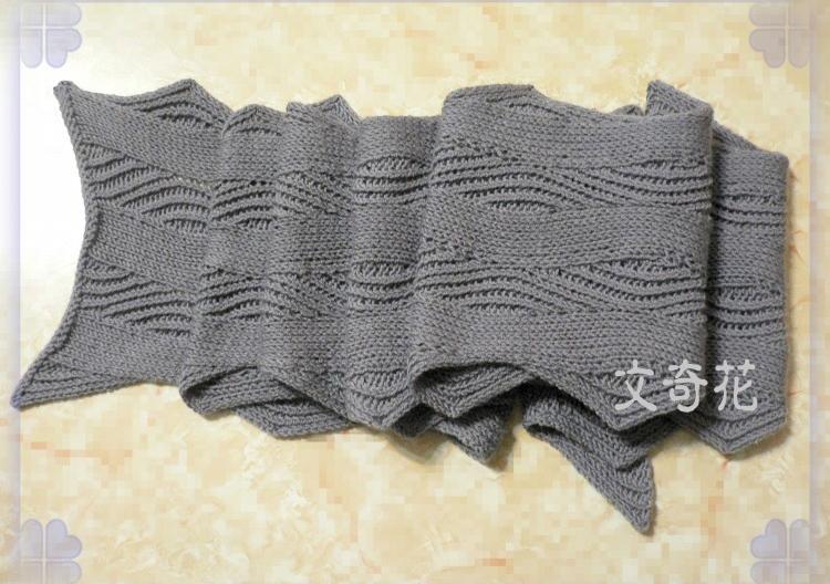 Knitting Patterns Wave Scarf : Horizontal Waves Scarf