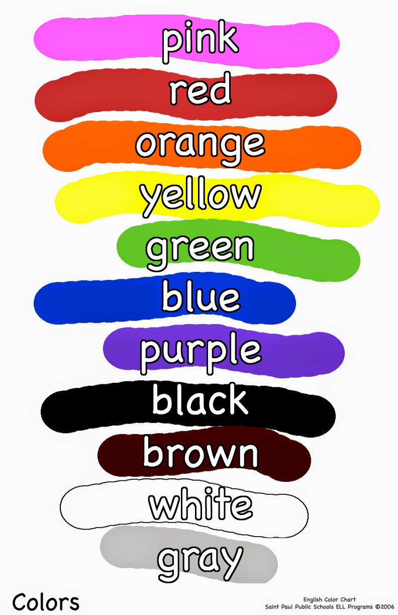 the use of colours in english Use the answer guide at the end of the game for pronunciation and colors practice this great game was created by cambridge english online.