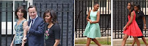 A First Lady (and her daughters) in the U.K.