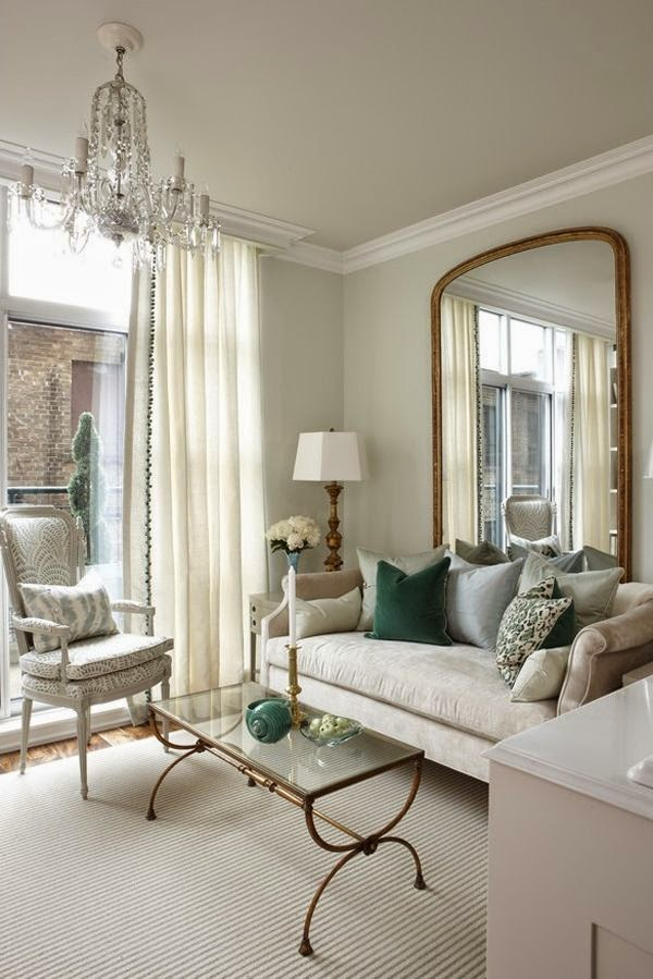 mirror with large window, large mirror living room