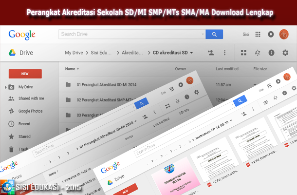 Perangkat Akreditasi Sekolah SD/MI SMP/MTs SMA/MA Download Lengkap