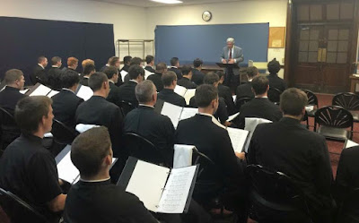Second choir rehearsal for Papal visit at St. Charles Seminary