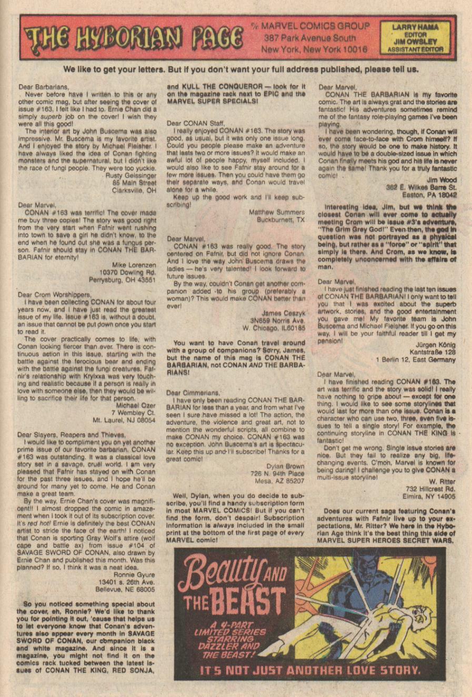 Conan the Barbarian (1970) Issue #167 #179 - English 24