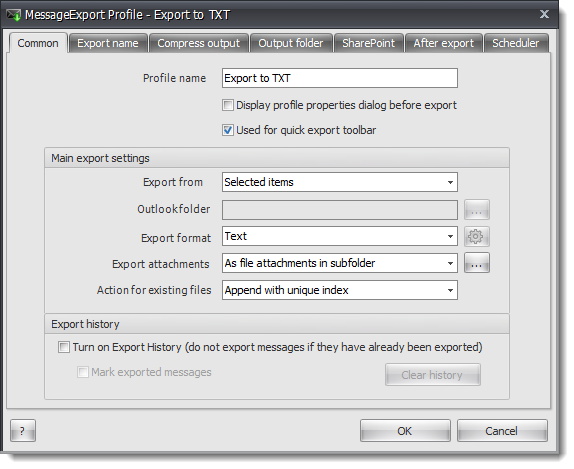how to change text settings in outlook