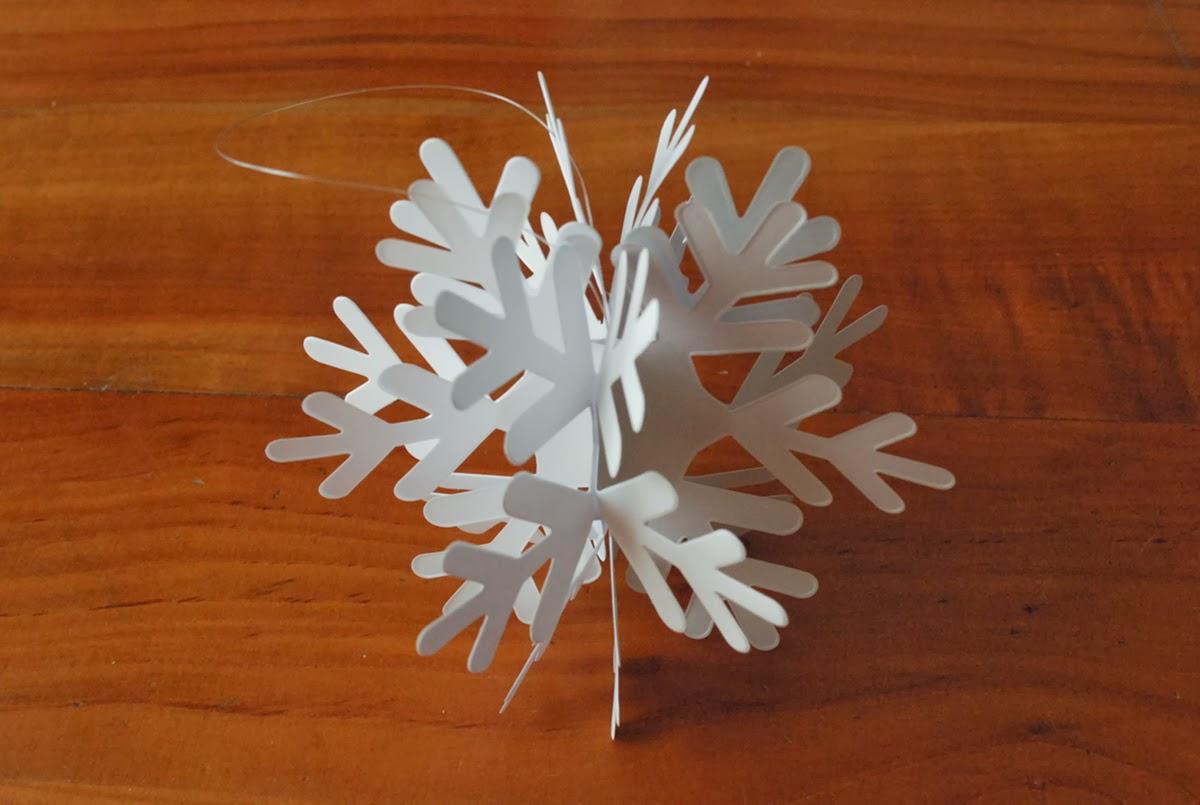 Super Incartesimi: Fiocchi di neve di carta: addobbi natalizi a prova di  QK72