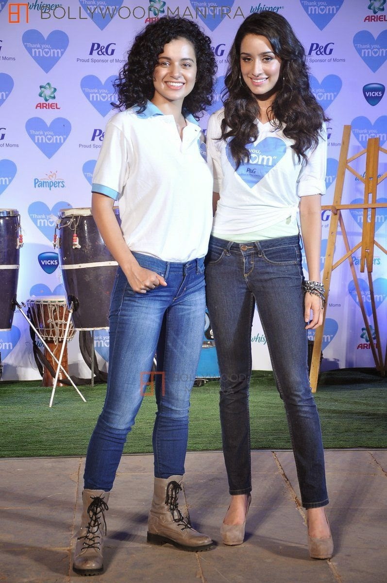 Kangana Ranaut, Shraddha Kapoor at P&G thank you mom event in Bandra hd
