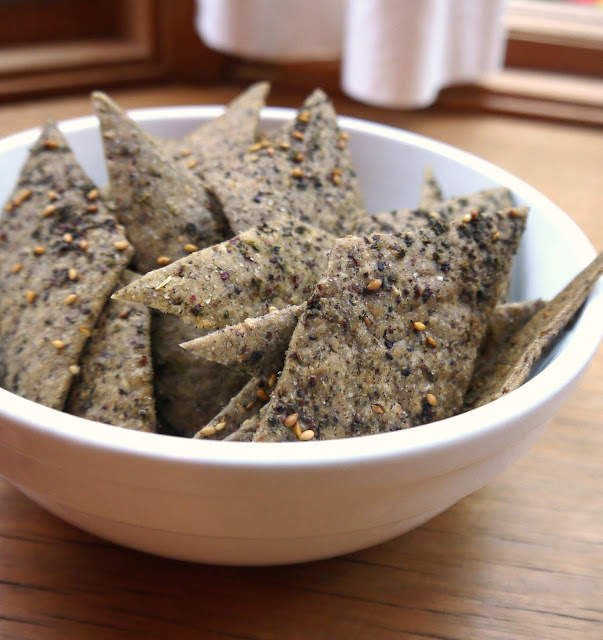 Bint Rhoda's Kitchen: Zait-and-Za'atar Sourdough Crackers