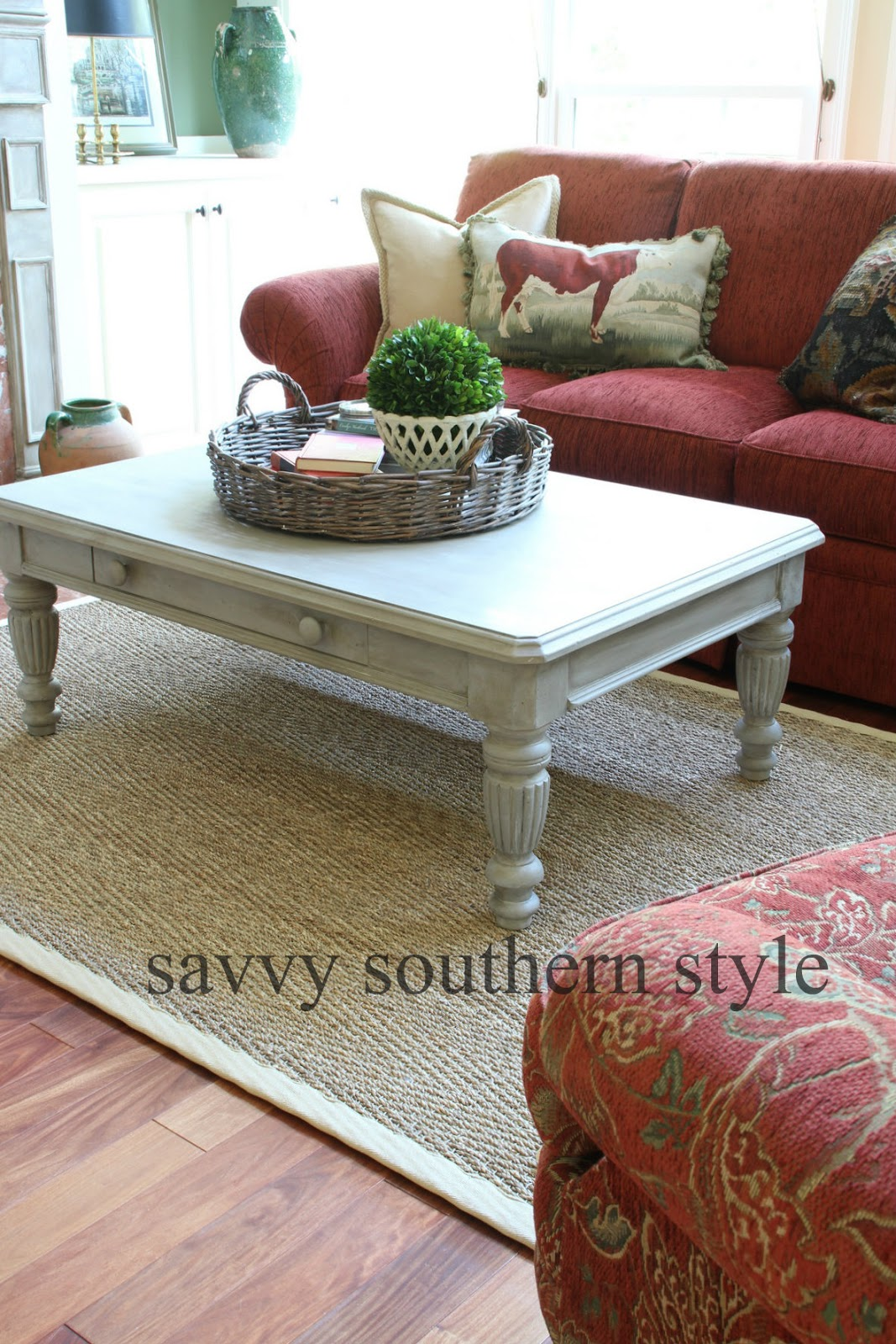 savvy southern style it u0027s only paint coffee table makeover