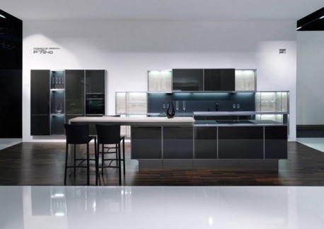 ruang dapur cantik warna ungu hitam dan putih info