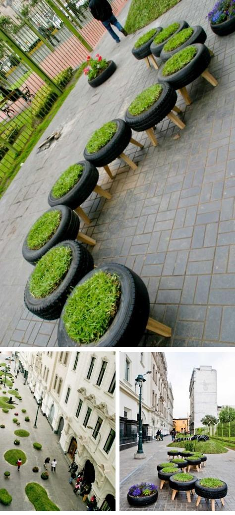 Beautiful Way for Recycling Car Wheels in Peru