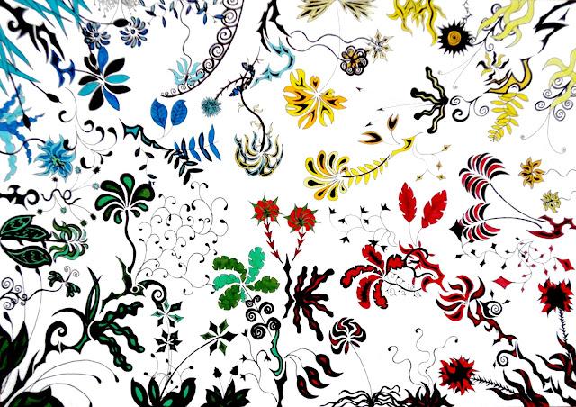 Dessins Fantastiques Fleurs+multicolores+2