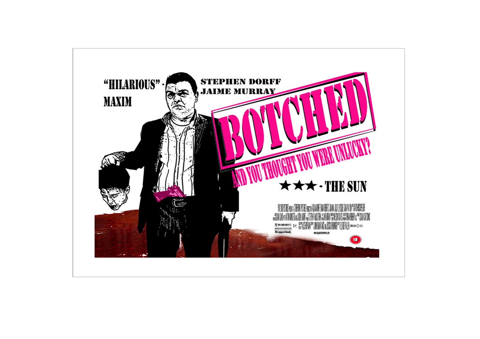 Botched movie poster