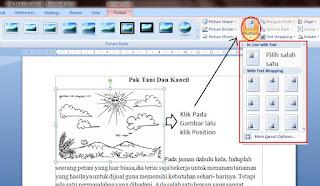 Cara Insert Gambar Pada Microsoft Word 2007