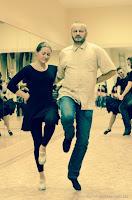 На тренировке по танцам с мужем Сергеем