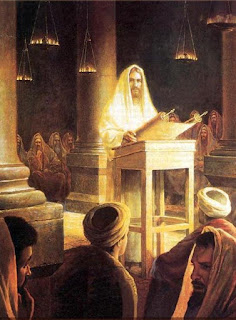 Christ preaching in the synagogue