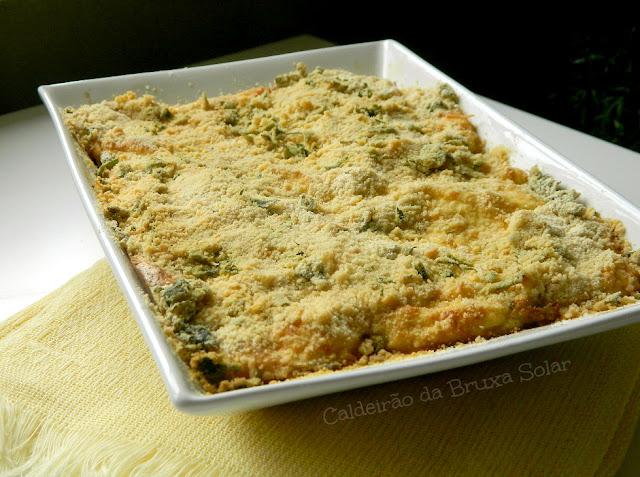 Creme de couve flor gratinada com crosta crocante