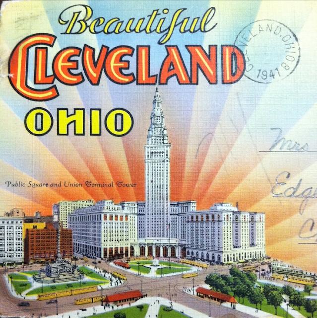 Vintage Cleveland Postcard ~ 1941 #vintage #cleveland #1940s #ohio