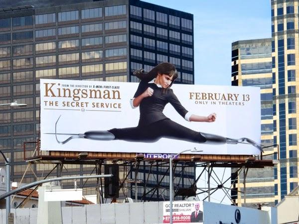 Kingsman Secret Service film billboard