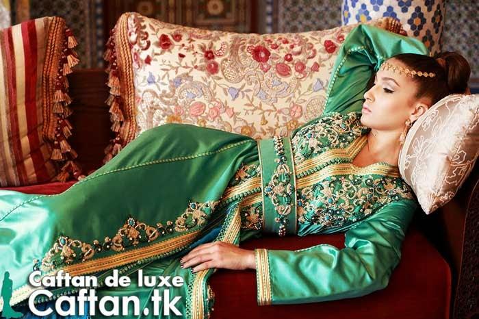 Caftan marocain vert d'eau 2014