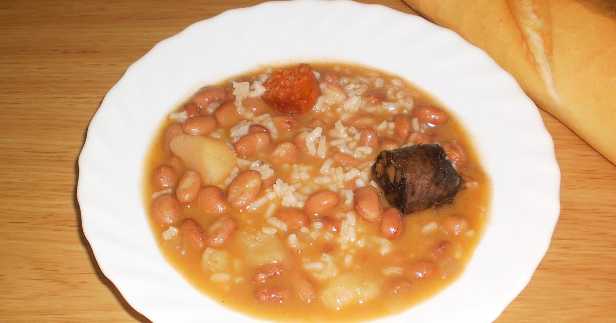 Mis recetas gloria bendita jud as pintas con arroz - Arroz con judias pintas ...