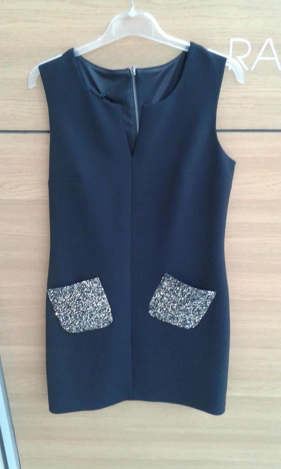 Φορεμα με ασημενιες trendy τσεπες