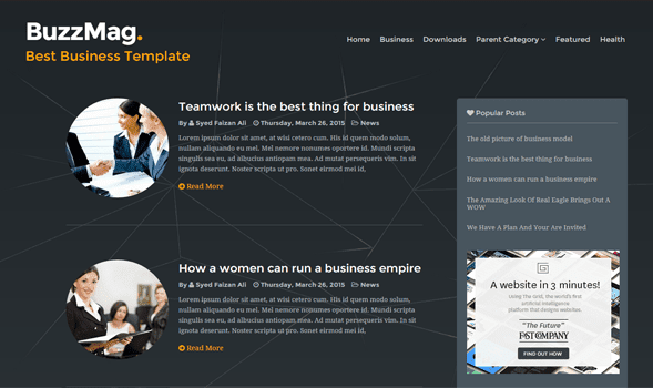 Buzz Mag Free Blogger Template 2015 - Msn4Free - Free Blogger Templates 2015