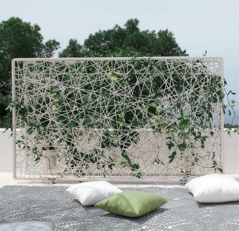 Screens and room dividers parav nok s t relv laszt k for Garden divider ideas