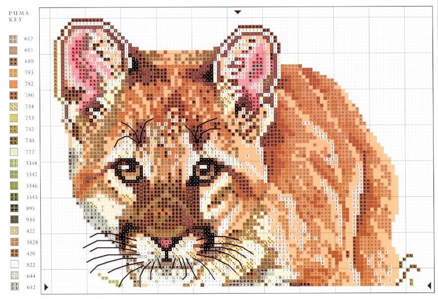 Животные схемы для вышивки крестом 22