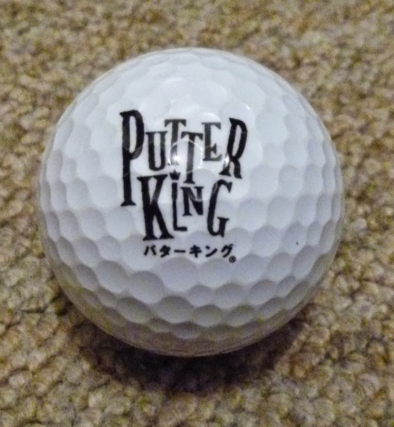 The other side of the Putter King minigolf ball
