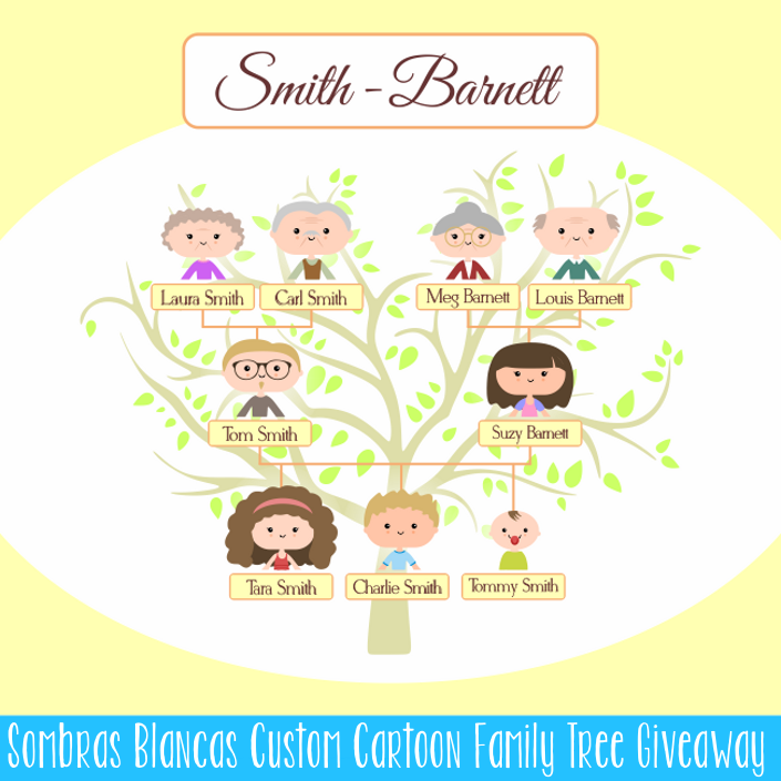 Custom Cartoon Family Tree Giveaway