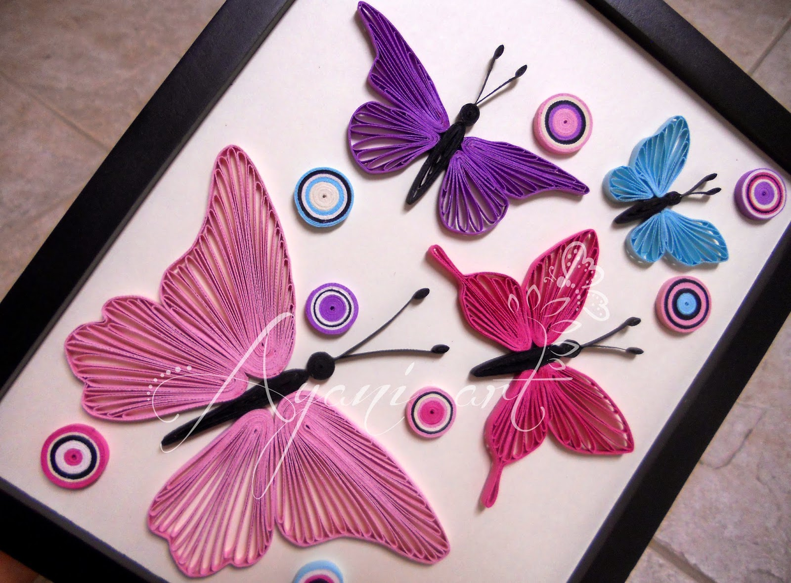 Ayani art: 2014 for Quilling Butterfly Tutorial  181obs