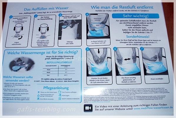 Auffüllanleitung - Wasserkissen Mediflow®