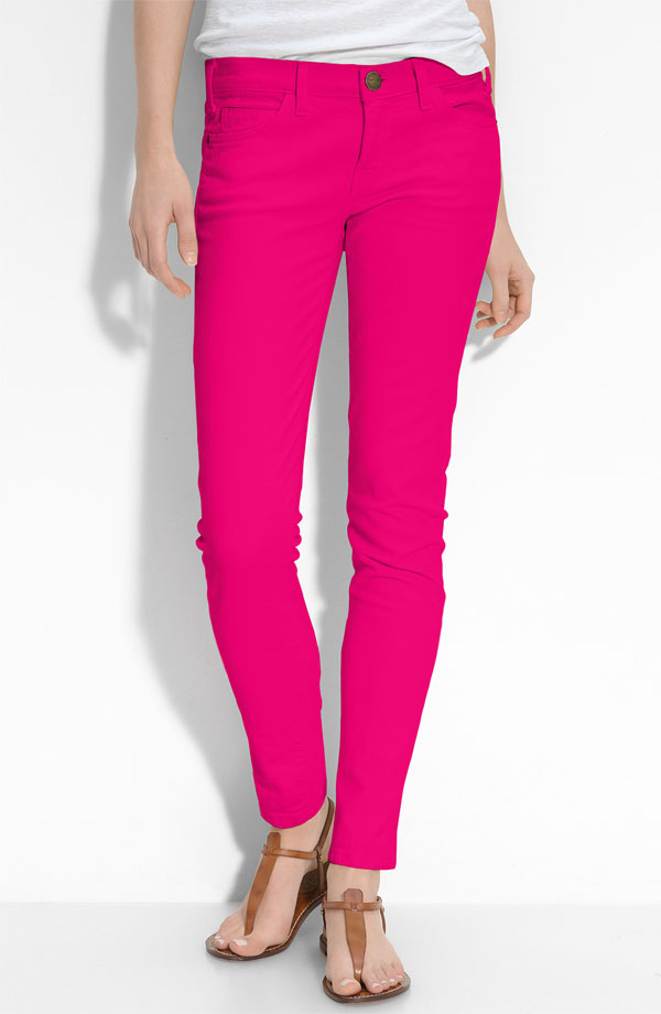 Colored Jeans. Colored jeans are the new closet must-have! Whether you're dressing for casual Friday at the office or slipping them on to run errands midweek, colorful jeans work for multiple occasions. Discover tons of denim darlings for a laid back yet polished vibe. Color Play Infuse color into your everyday wardrobe with colored jeans.