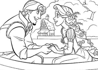 coloring pages tangled rapunzel