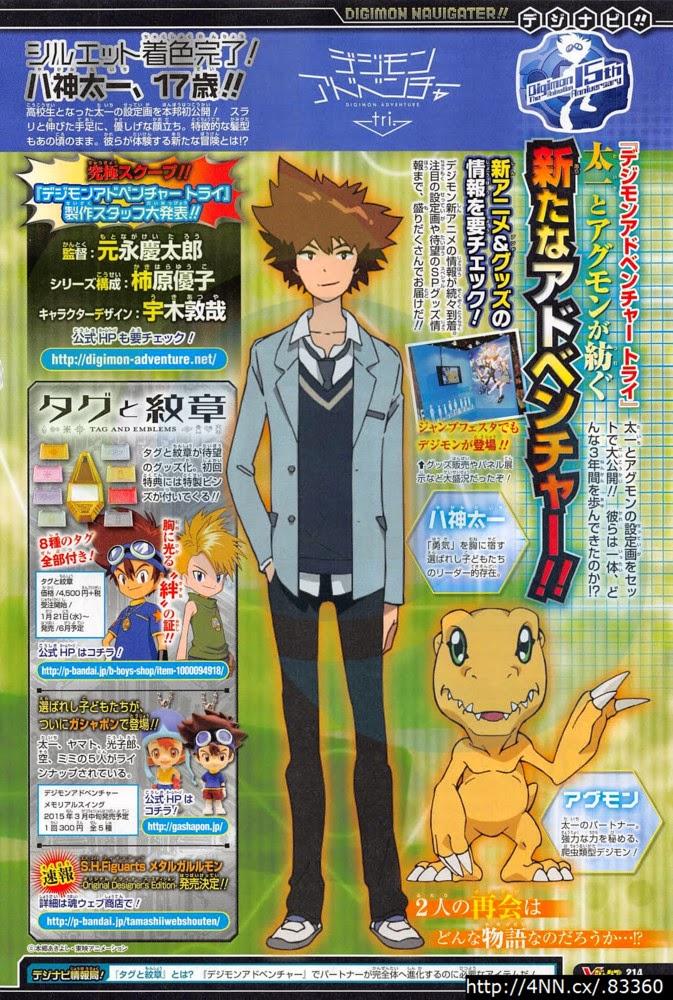 [Novidade] Designs dos Personagens e Digimon em Digimon Adventure tri. Taichi-agumon-designs-tri